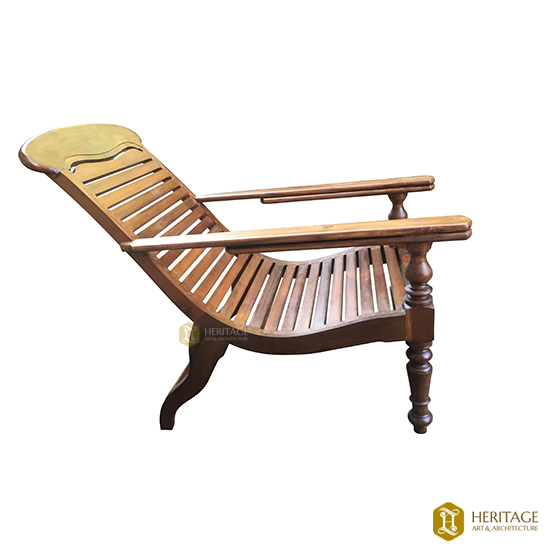 Easy Chair with Wooden Backrest