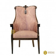 Wing Back Accent Wooden Chair