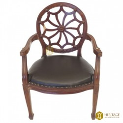 Wooden Round-back Chair