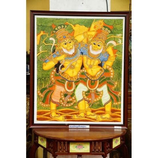 Bali Sugreev yudh  mural painting