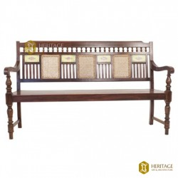 Classical Wooden Bench with Hand Paintings