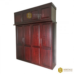 British Colonial Style Wooden Wardrobe