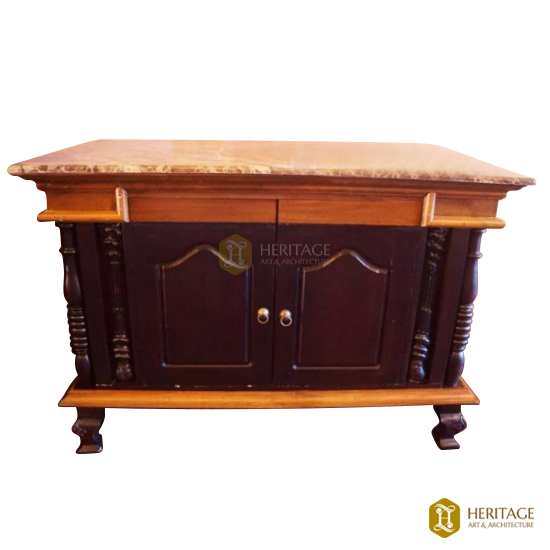 Marble Top Wooden Cabinet