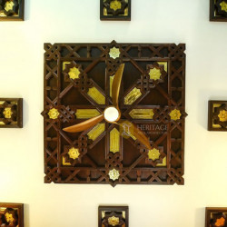 Brass Inlaid Wooden Ceiling