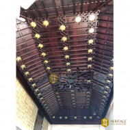 Wood and Brass Star Ceiling