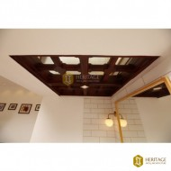 Wooden Frame Mirror Ceiling