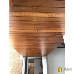 False Wooden Passage Ceiling