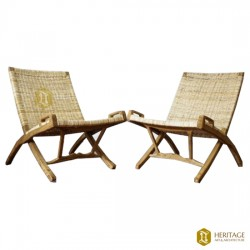 Cane Woven Foldable Easy Chair