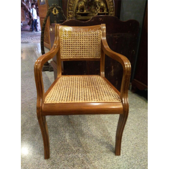 Malabar Wooden Cane Chair