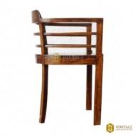 Rounded Vintage Teak Wood Chair