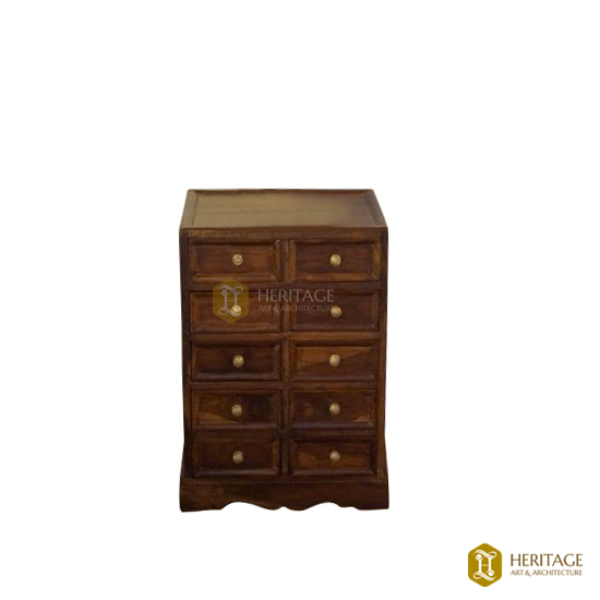 Vintage Style Teak Wood Chest Of Drawers