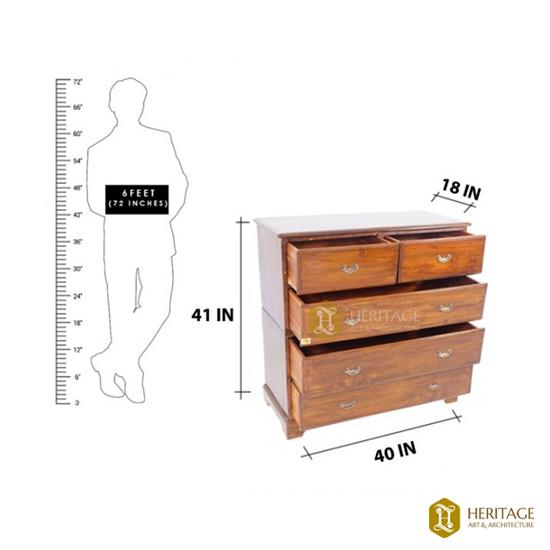 High Wooden Storage Chest