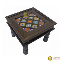 Antique Wooden Square Coffee Table