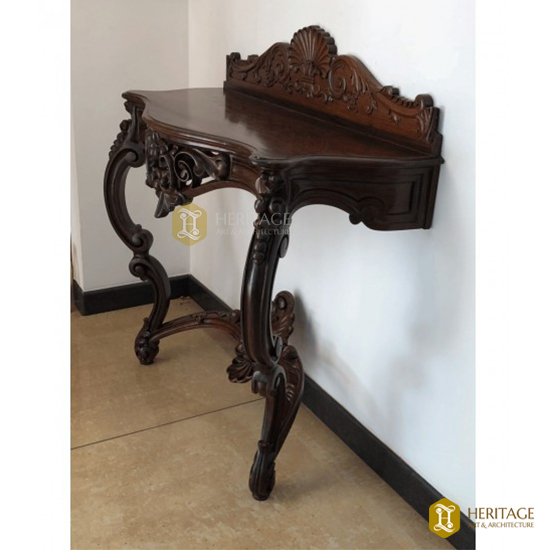 Rosewood Carved Console