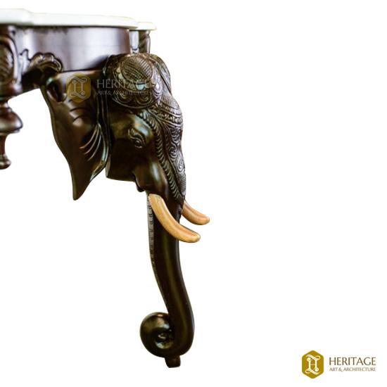 Rosewood Elephant Console