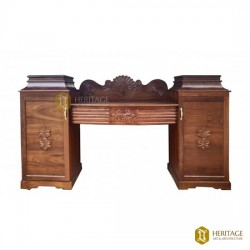 Wooden Console with Storage