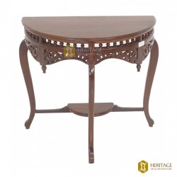 Half-Circle Wooden Console