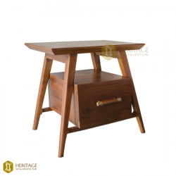 Contemporary Side Table With Storage