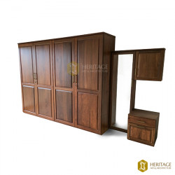 Contemporary Style Wooden Wardrobe