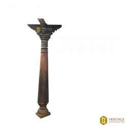 Dravidian Style Wooden Pillar