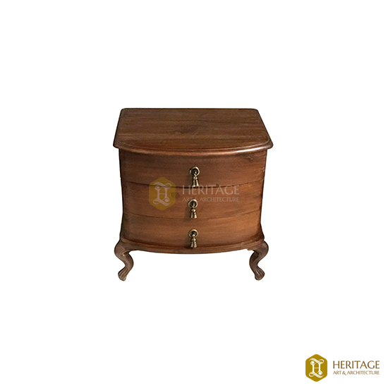 Dutch Style Wooden Side Table With Drawer