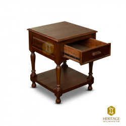 Elegant Teak-wood Side table with Storage