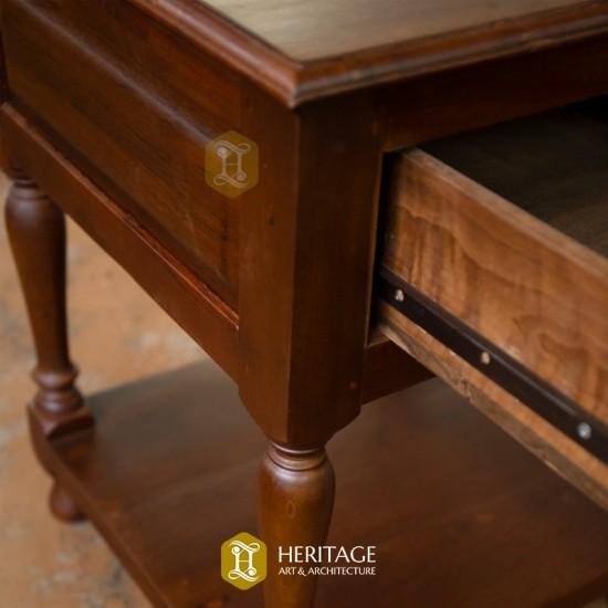 Elegant Teak-wood Side table with Storage