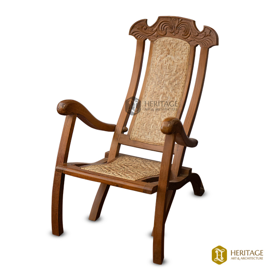 Foldable Cane Wooden Chair