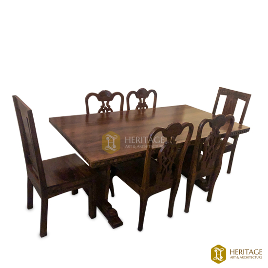 Wooden Dining With Table French Style Chairs
