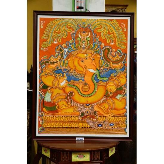 Ganapathi Mural painting