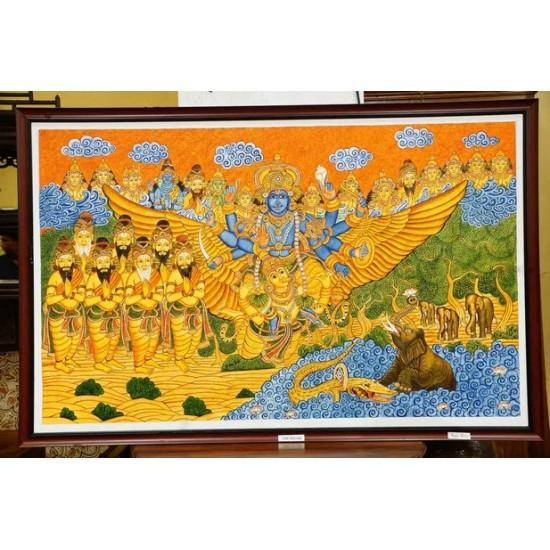 Ghajendra moksham mural painting