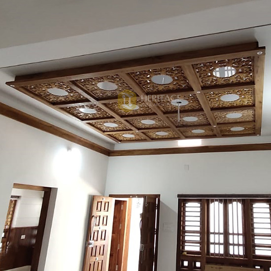 Italian Style Wooden Mirror Ceiling