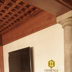 Kerala Traditional Style Wooden Ceiling