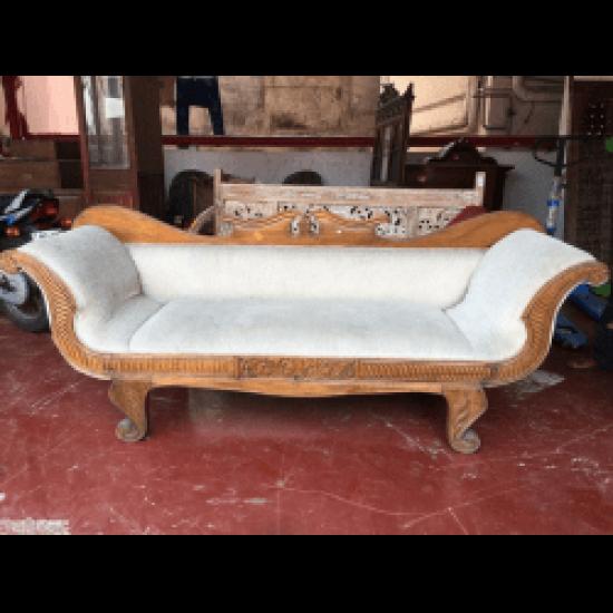 Mughal Style Teak Wood Sofa