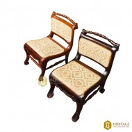 Pallava Style Woven Cane Chair