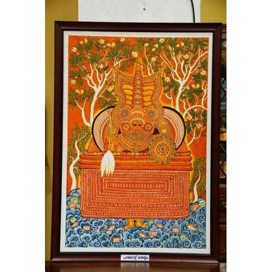Palott theyyam mural painting