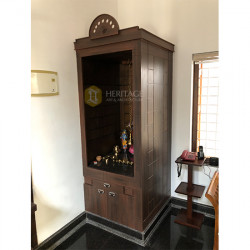 Rosewood Pooja Room with Storage
