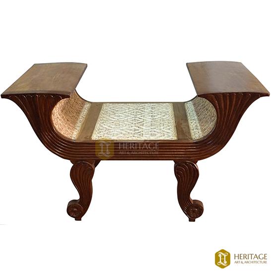 Roman Style Wooden Cane Woven Sofa