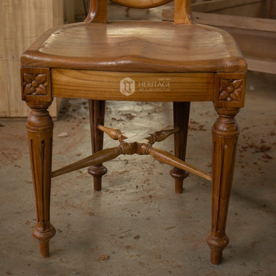 Royal Flower Carved Dining Chair