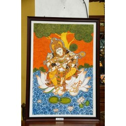 Saraswathi mural paintings