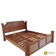 Teakwood Slatted Traditional Bed