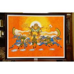 Soorya bhagavaan mural painting