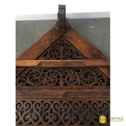 South Indian Style Wooden Hand Carved Gable