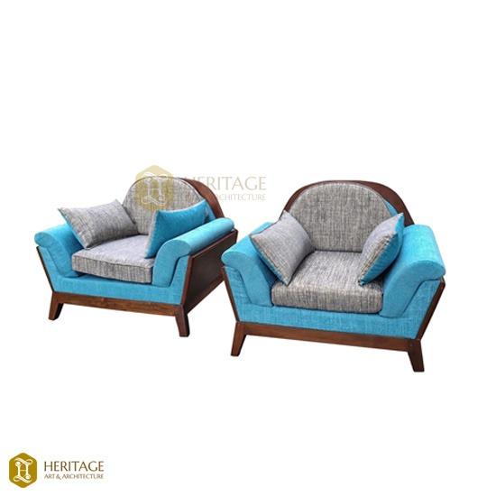 Teak Wood Cushion Sofa
