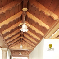 Traditional Wooden Ceiling for Passages