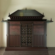 Traditional South Indian Style Wooden Pooja Room