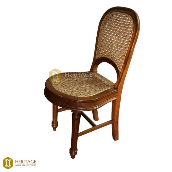 Traditional Wooden Blind Weave Caning Chair