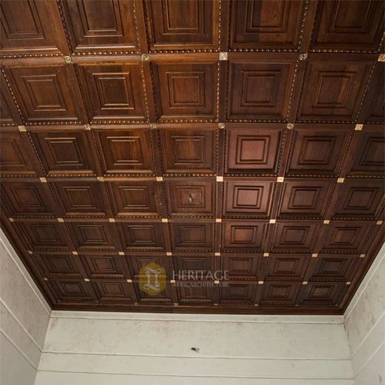 Wooden Coffered Ceiling