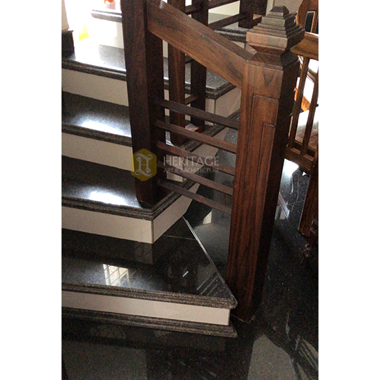Rosewood Contemporary Stair Rail