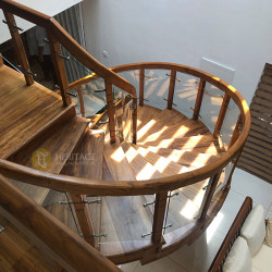 Wooden Curved Stairs